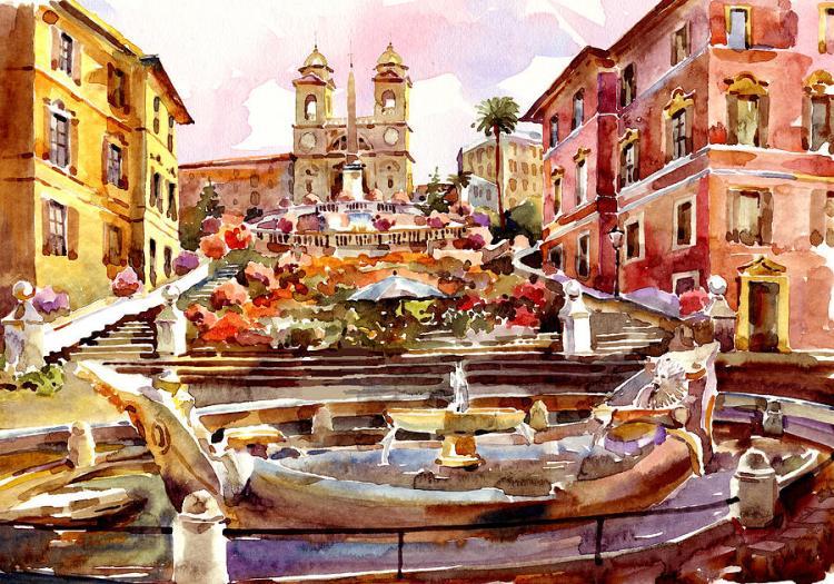 spanish watercolor